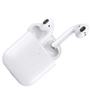 Auriculares iPhone con estuche de carga inalámbrica