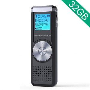 Grabadora de voz digital con reproductor MP3 de ADOKEY